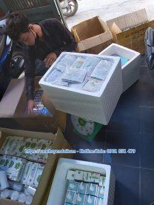 Đóng gói mỹ phẩm gửi đi Đài Loan