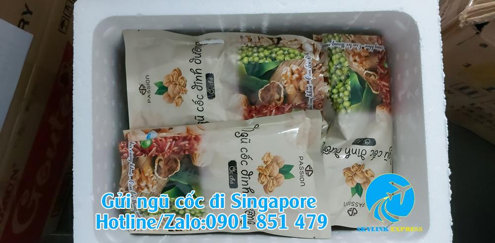 gửi bột ngũ cốc sang Singapore