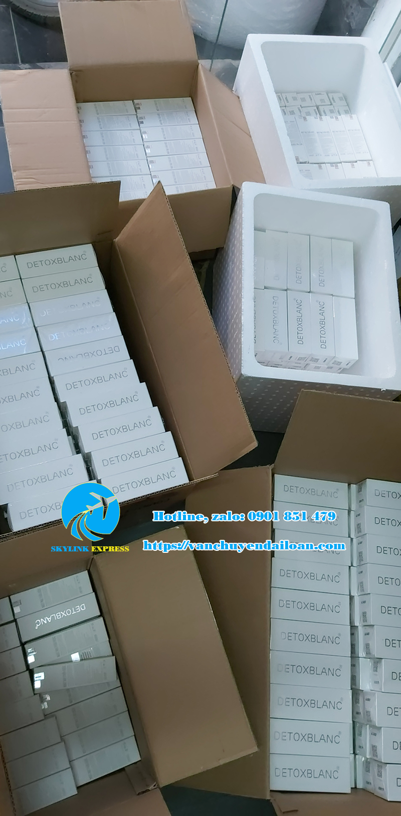 nhận gửi mỹ phẩm detoxblanc sang Đài Loan