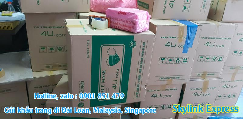 Gửi khẩu trang y tế sang Đài Loan, Singapore, Malaysia