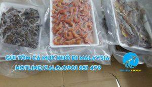 gửi tôm khô cá khô mực khô đi malaysia